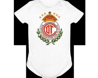 CLUB TOLUCA Futbol Soccer  Onesie / Shirt 3M,6M,9M,12M,24M,36M,2T,3T,4T,5T,6T,7T.