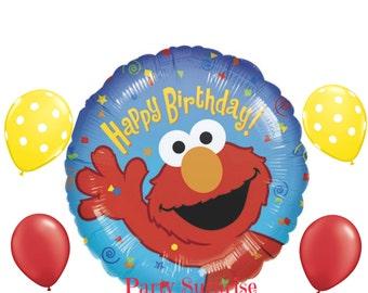 Elmo Birthday Balloon Package Sesame Street Birthday Party Decorations Kids Sesame Street Birthday Party Elmo Balloons