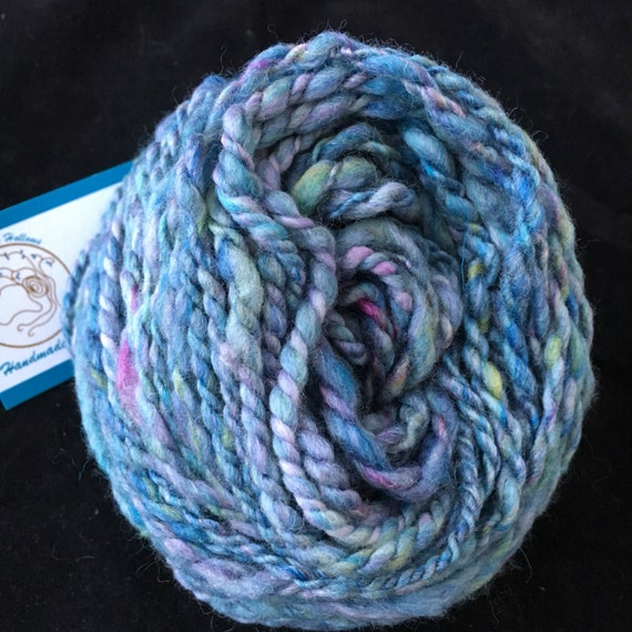 Heavy worsted mixed wool handspun yarn
