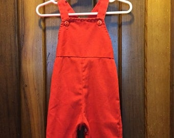 HEALTH TEX // Little Button Red Coveralls
