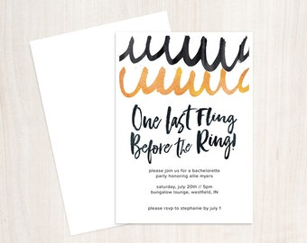 PRINTABLE One Last Fling Bachelorette Invite