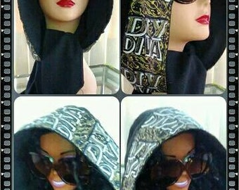 COUTURE DIY DIVA Hoodie Wrap Fashion Accessory.