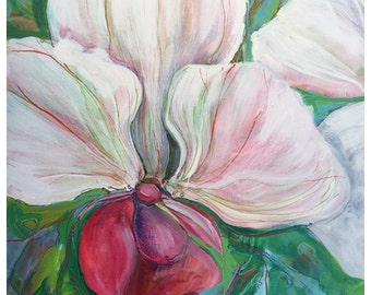 Orchid-Abstract painting on canvaas