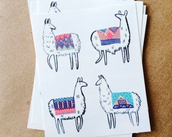 tattoos for kids llama temporary tattoos colorful southwest tattoo childrens summer tattoos beach fashion llamas with woven blankets tatoos
