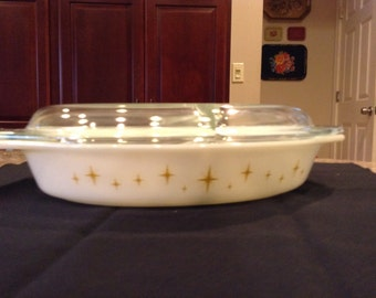Pyrex Constellation Divided Vegetable Dish with Lid