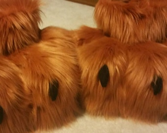 Outdoor Fursuit Feet with soft, minky  claws