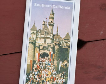 Vintage Southern California Map With Disneyland On The Front