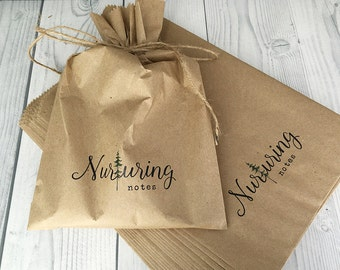 Custom Merchandise Bags | Multiple Sizes | 100% Recycled | Custom Bags | Custom Gift Bags | Flat Merchandise Bags | Custom Paper Bag