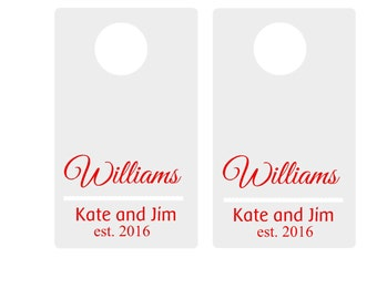 Custom Personalized Cornhole Decal, Sticker, Names and Est Dates