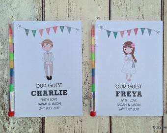 Children's Personalised Wedding Activity Pack Special Guest Favour A6 White