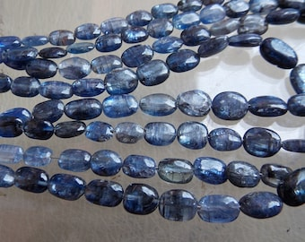 """1. Strand 12"""" Blue Kyanite Smooth Oval Shape Beads 11x9 To 6x4 MM Approx 100% Natural Finest Quality Wholesale Price New Arrival (pme)"""