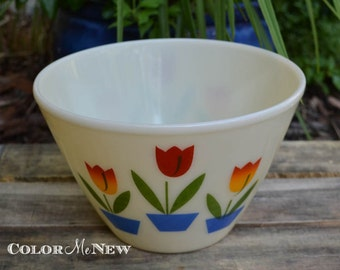 Vintage Fire King Tulip Bowl - 9 1/2 inches