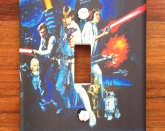 Star Wars Classic The Force Awakens Light Switch Cover // PERSONALIZED
