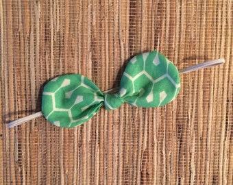 geo green bow headband {ready to ship}
