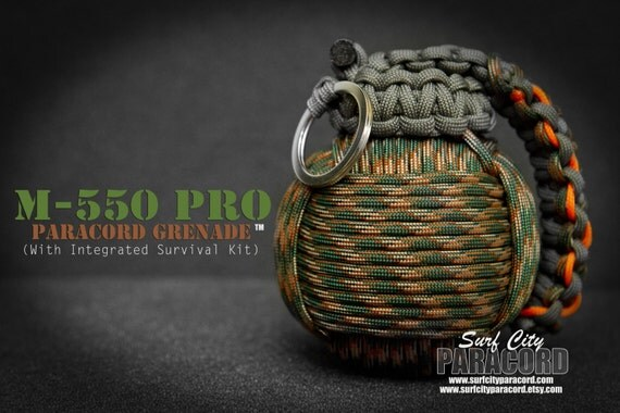 m 550 pro paracord grenade with integrated by surfcityparacord