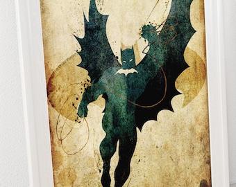 Batman (The Dark Knight) Minimalist Posters- Homage to DC Comic's Batman