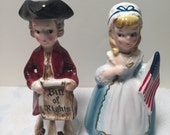 James Madison and Betsy Ross Salt and Pepper Shakers