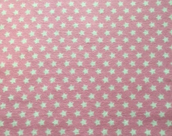 Pink with Stars Flannel