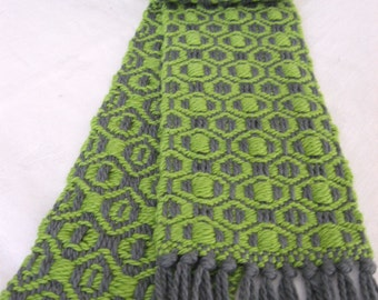 """Handwoven scarf - """"Area 51"""""""