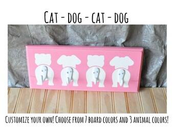 Cats & Dogs Butt Hooks - Cat, Dog, Cat, Dog
