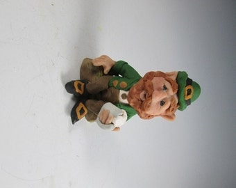 Donnigan the Leprechaun Hand Sculpted Polymer Clay