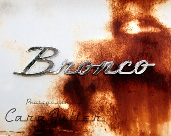 Bronco Emblem on a Ford Truck Photograph