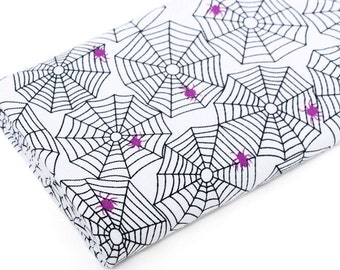 Cotton Blend Knit Fabric Spider Web White By The Yard