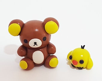Rilakkuma and Kiiroitori Clay Figurine