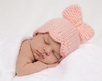 Pink Knit Newborn Hat