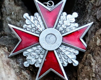 Maltese Cross Red Pendant Necklace Templar Knight Order Medieval Jewellery Jewelry Middle Ages Crusader Crusades Charm Mason Masons History