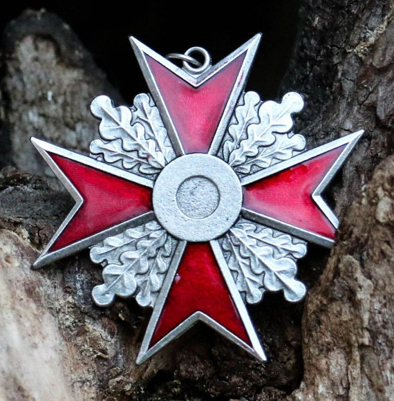 Maltese Cross Red Pendant Necklace Templar Knight Order