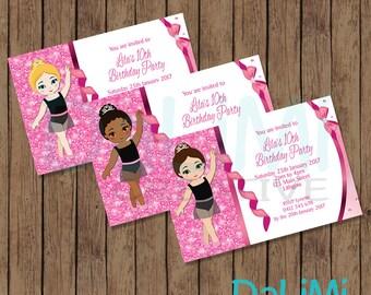 Ballerina Invitation - Ballet Birthday Party - Dance Party Invitation - Birthday Invitation - Pink Invitation - Ballet Printable Invitation!