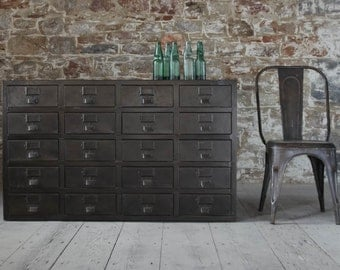 Vintage Style Industrial Cabinet with Drawers