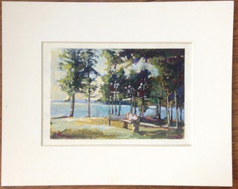 Islesboro Maine - Hand Painted Photograph - Original Art