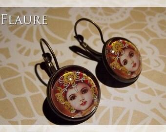 "Earrings ""child Krishna"""