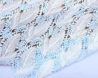 1yard*120cm  leaves LACE FABRIC,hollow up Lace fabric,2colors Lace for Girls, Clothings / DRESS Lace supply ,solubility lace fabric