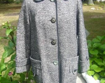 Vintage 1970's, Tweed Coat.