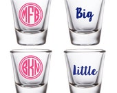 Sorority Big & Little Shot Glasses - Set of Two, 1.5oz Shot Glass