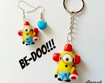 Be Doo Minions FAN ART - Despicable Me Cattivissimo Me - Kevin Stuart Bob Banana Necklace earrings or Keychain