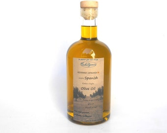 ORGANIC SPANISH Extra Virgin Olive Oil, picual olives, first cold pressed, unrefined, artisan oil, 25 oz, 750 ml, large bottle olive oil