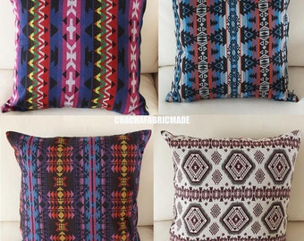 Tribal Pillow Cover Bohemian Decor Mexican Cushion Cover Aztec Pillow Ethnic Pillow Case Navajo Pillow Bedding Geometric Custom Any Size