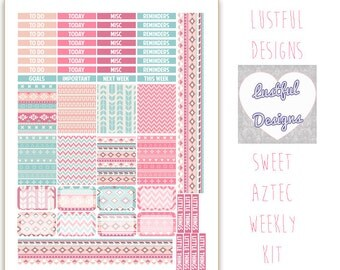 Sweet Aztec Weekly Kit for the Erin Condren Life Planner - PRINTABLE / DOWNLOADABLE for the ECLP