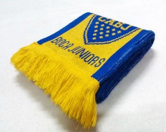 Vintage Boca Juniors Acrylic Scarf Neck Wrap Muffler Made In China