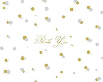 """Confetti Folded Thank You Card - 4.5""""x5"""""""