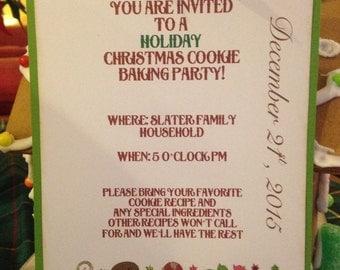 Cookie Baking Invitation (Customizable)
