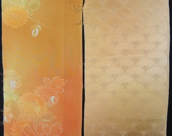 Vintage kimono silk fabric-2 pcs #7245