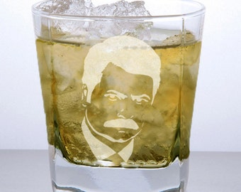 Ron Swanson Whiskey Glass, Rocks Glass,Parks and Rec, Funny Mug, Nerdy Gifts, Personalized Barware, Cocktail Glass, Whiskey Lover.
