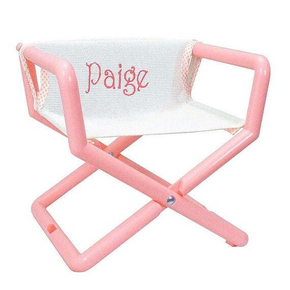 Personalized kids director chair that travels anywhere just for Monogrammed kids chair
