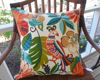 Tropical Outdoor Pillow Cover Floral Patio Porch Decorative Throw Pillow Cushion Fabric by Yard