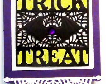 Halloween Trick or Treat Card with Pop Up Haunted House